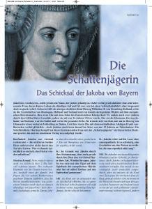 """""""Die Schattenjägerin – das Schicksal der Jakoba von Bayern"""":  Mein Interview zur Neuauflage mit der """"Karfunkel"""""""